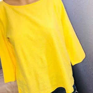 Liz Claiborne Top Yellow Size P/L Ribbed